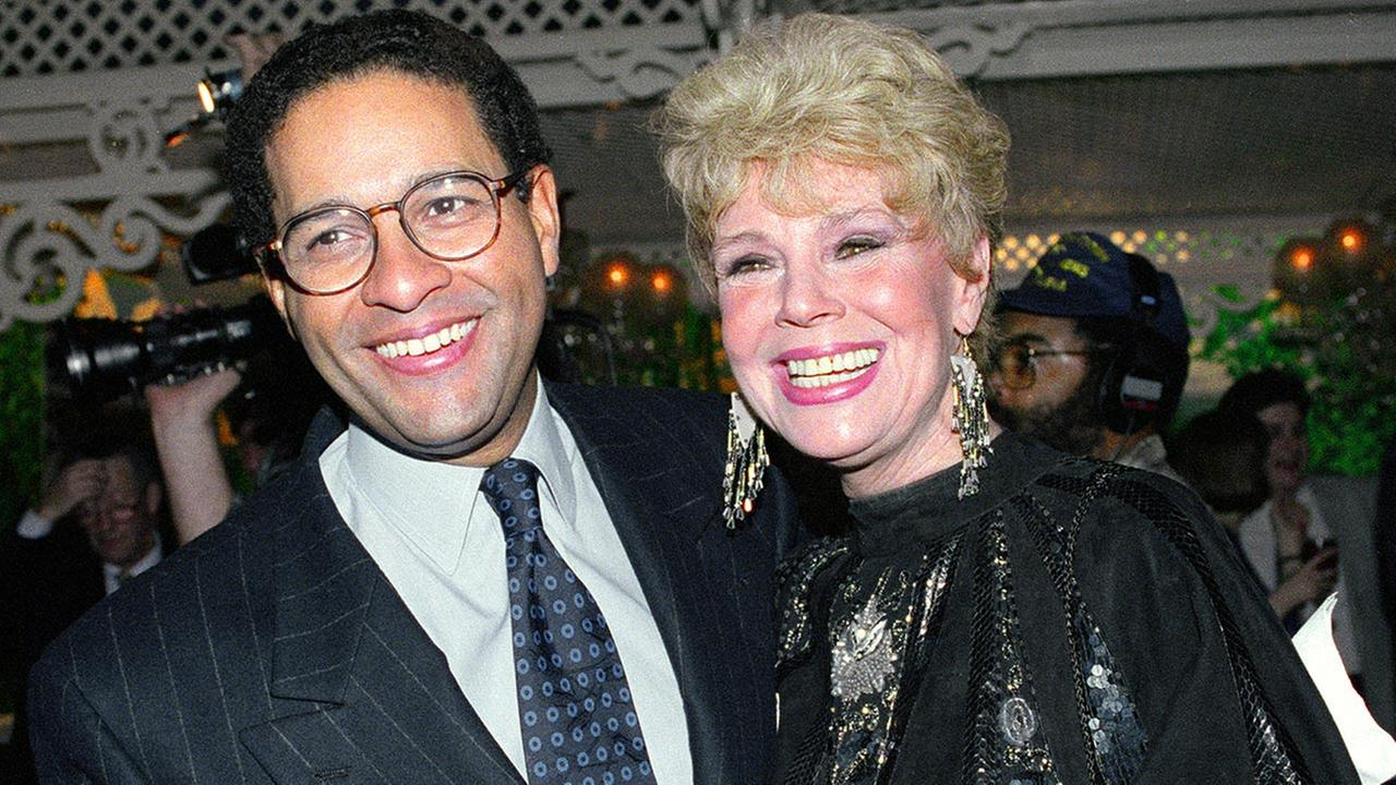 Betsy Palmer, seen here in this January 1992 file photo with Bryant Gumbel, died of natural causes on Friday, May 29, 2015. The Friday the 13th actress was 88.AP Photo/Mark Lennihan