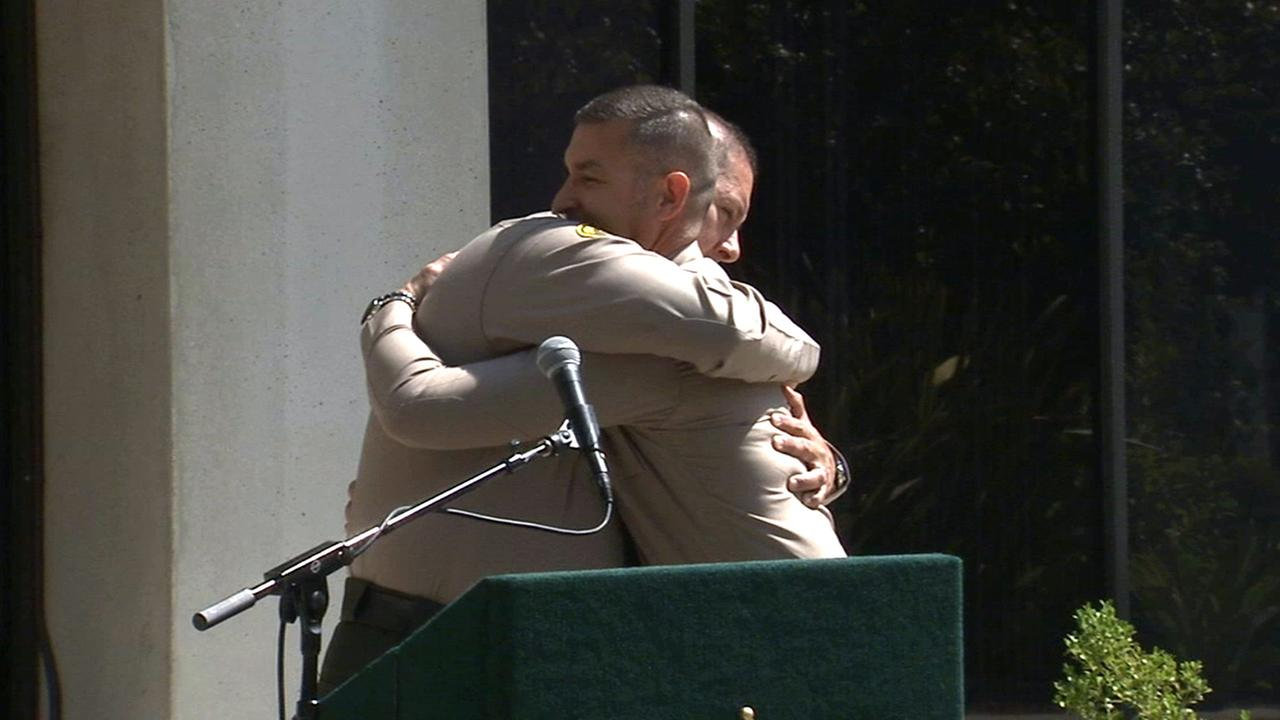 Los Angeles County Sheriffs Deputy Javier Tiscareno will donate a part of his liver to fellow Deputy Jorge Castro, who suffers from a rare liver disease.