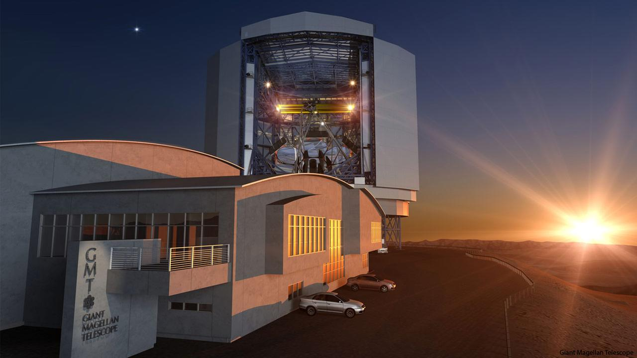 A rendering of the Giant Magellan Telescope is shown in this image from the Giant Magellan Telescope Organization.