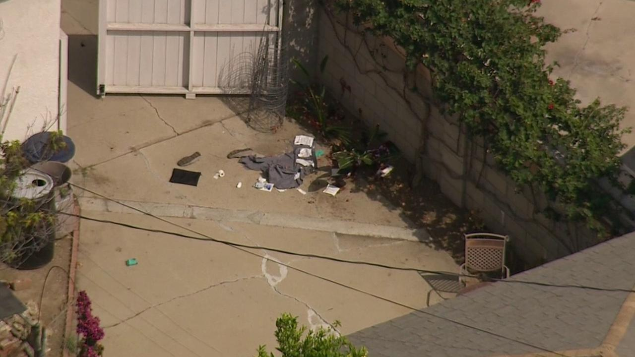 Fontana police were involved in a shooting while serving a search warrant in Encino on Wednesday, June 3, 2015.