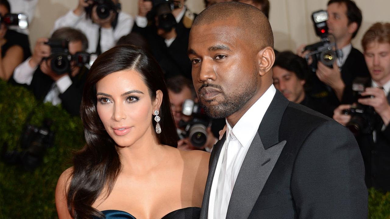 Kim Kardashian and Kanye West attend The Metropolitan Museum of Arts Costume Institute benefit gala on Monday, May 5, 2014, in New York.