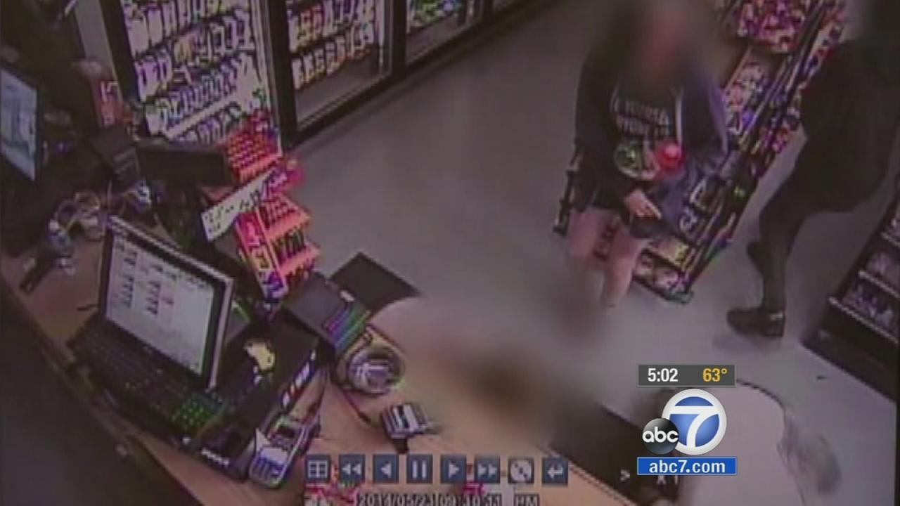 A screen grab of surveillance video from a deli Elliot Rodger stopped at during his alleged killing spree in Isla Vista.