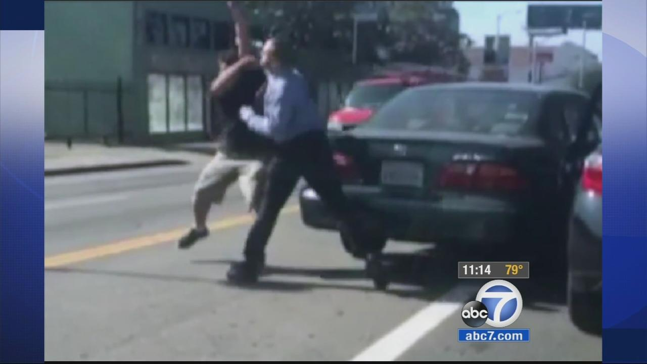 A brawl between two drivers apparently fueled by road rage was all caught on camera. Police are seeking the publics help to get more information.