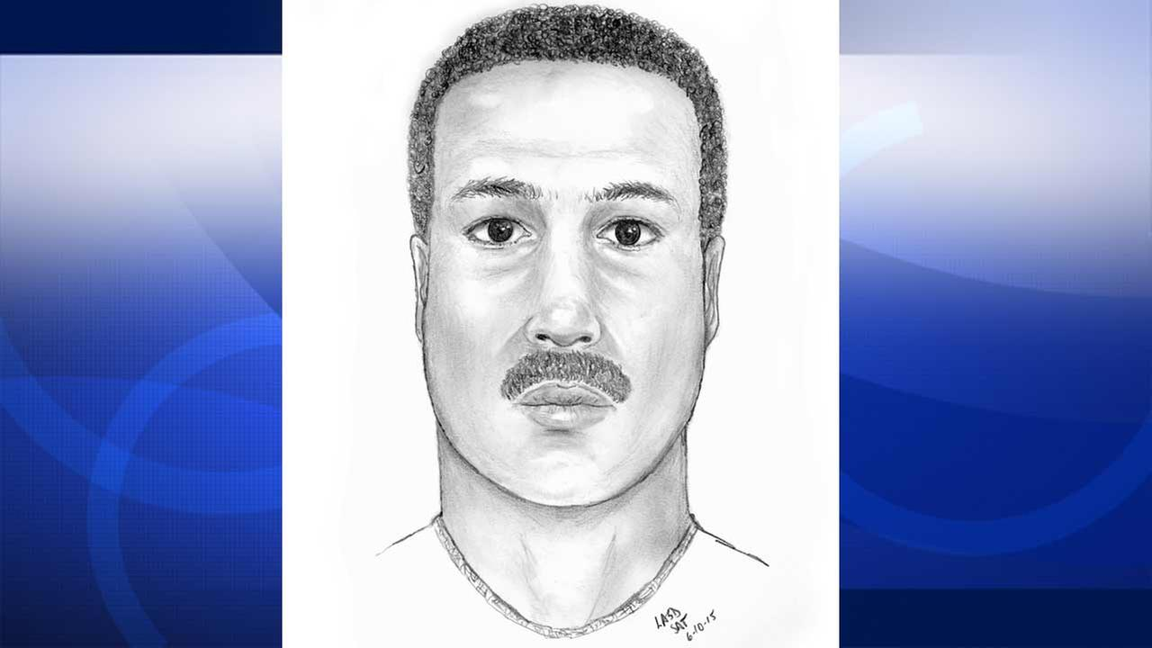 Los Angeles County sheriffs deputies released this composite sketch of a child annoyance suspect Thursday, June 11, 2015.