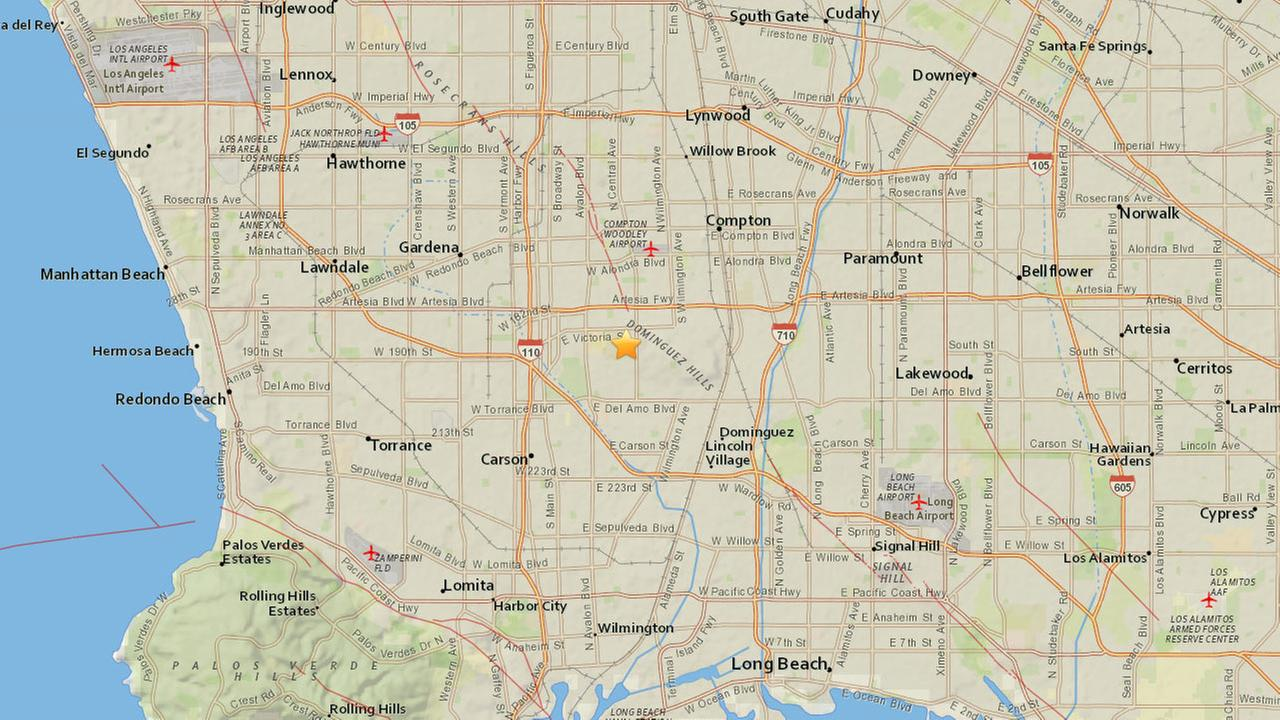 A 2.7-magnitude earthquake struck 2 miles northeast of Carson on Monday, June 16, 2016, according to the U.S. Geological Survey.