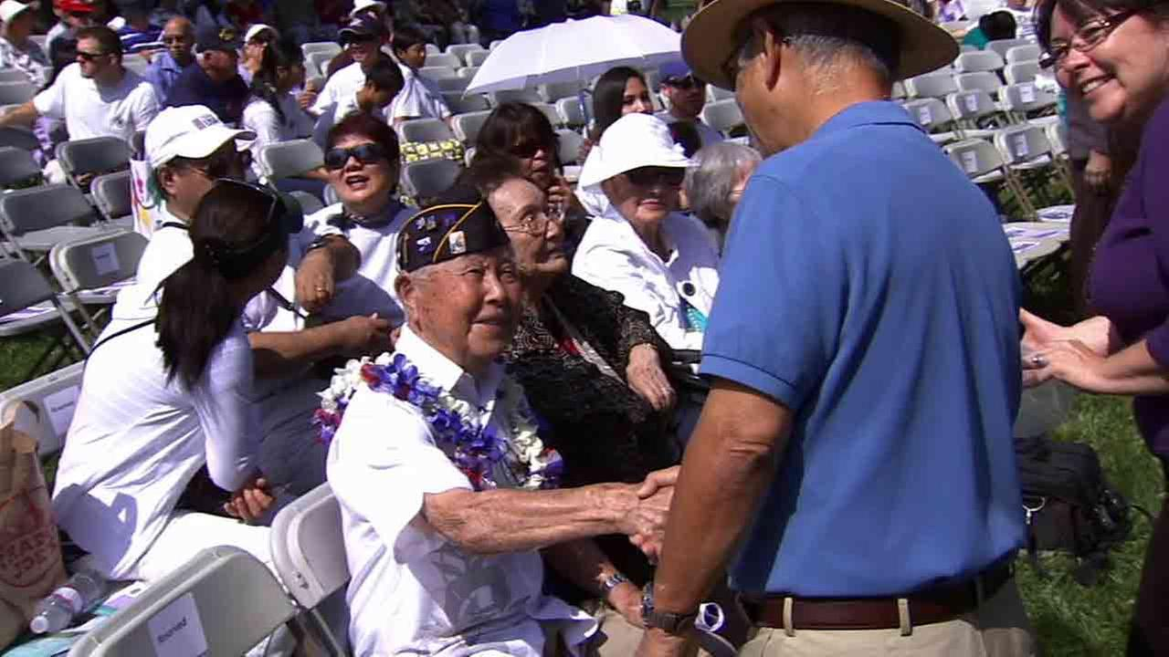 U.S. Army Lt. Yoshito Fujimoto, 96, was recognized for his contribution to helping end World War II Monday, May 26, 2014.