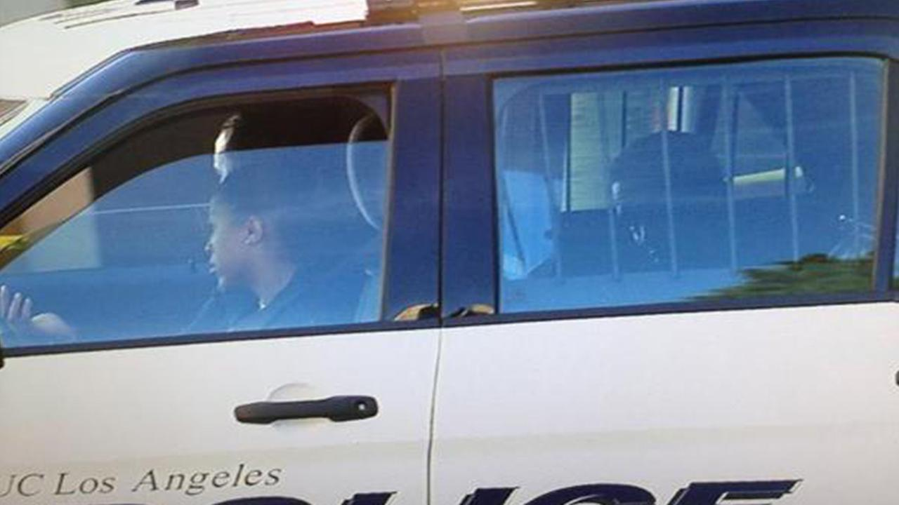 Sean Diddy Combs is transported in a UCLA police cruiser on Monday, June 22, 2015.
