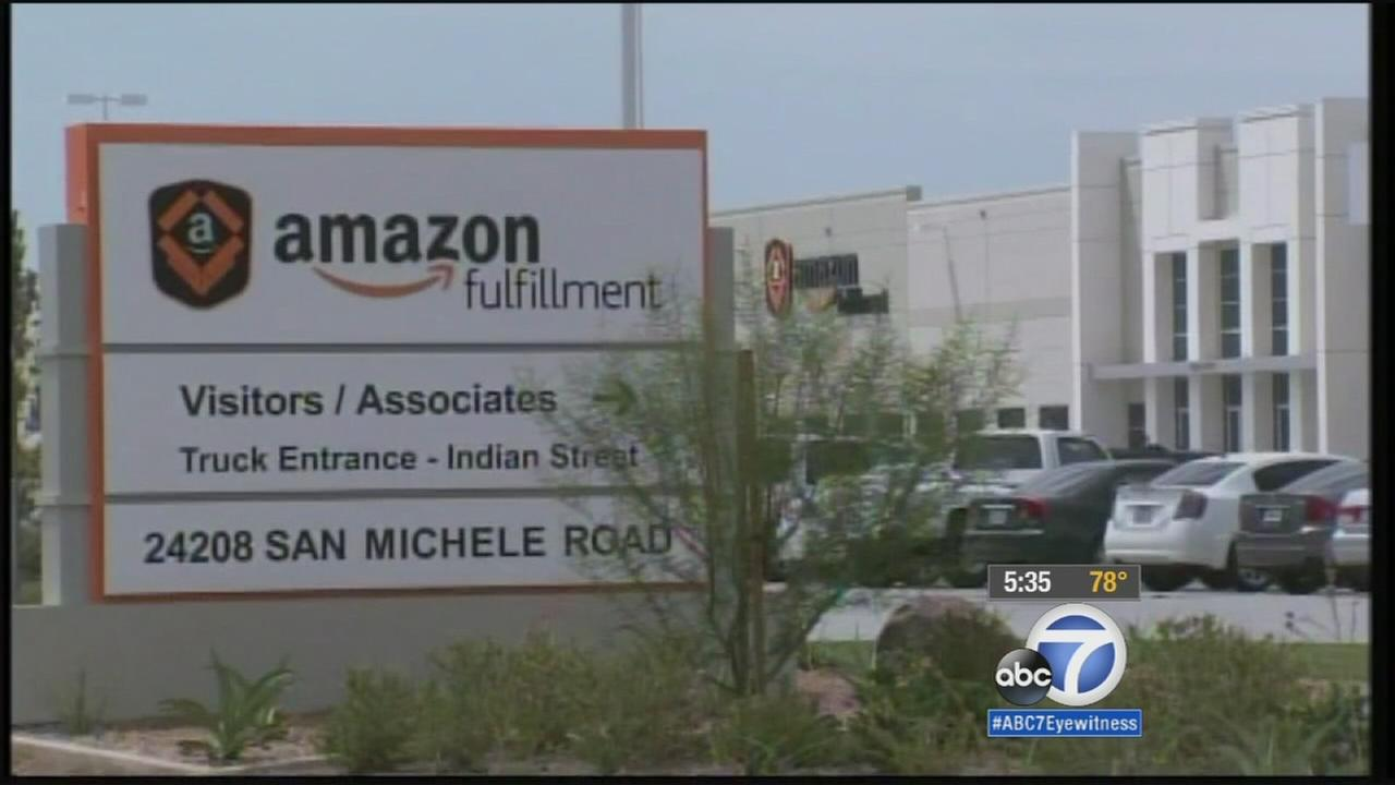 A large crowd of jobseekers showed up at the Amazon fulfillment center in Moreno Valley Tuesday, June 23, 2015 to take part in a one-day hiring event.
