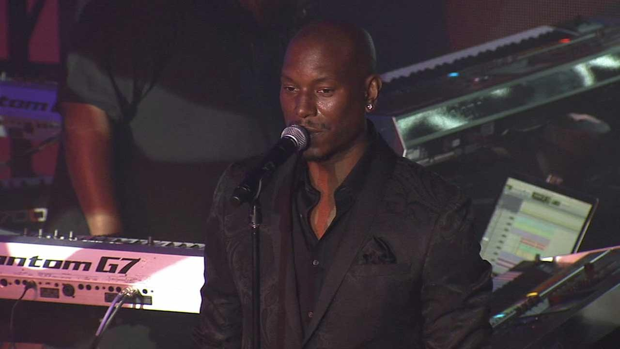 Tyrese Gibson performs Shame from his upcoming album Black Rose at his album release party at the Samsung Studio LA in the Fairfax District Wednesday, June 24, 2015.