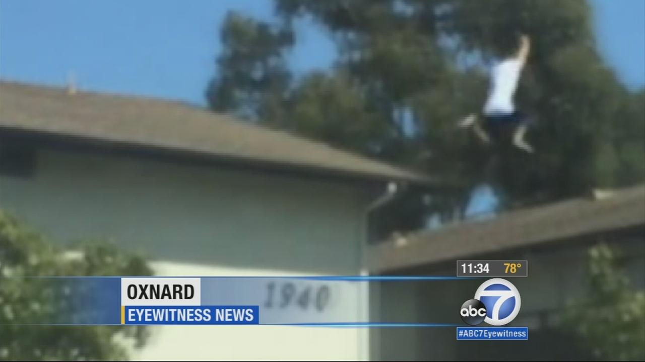 A sexual assault suspect was arrested in Oxnard after leading police on a wild chase across rooftops on Wednesday, June 24, 2015.