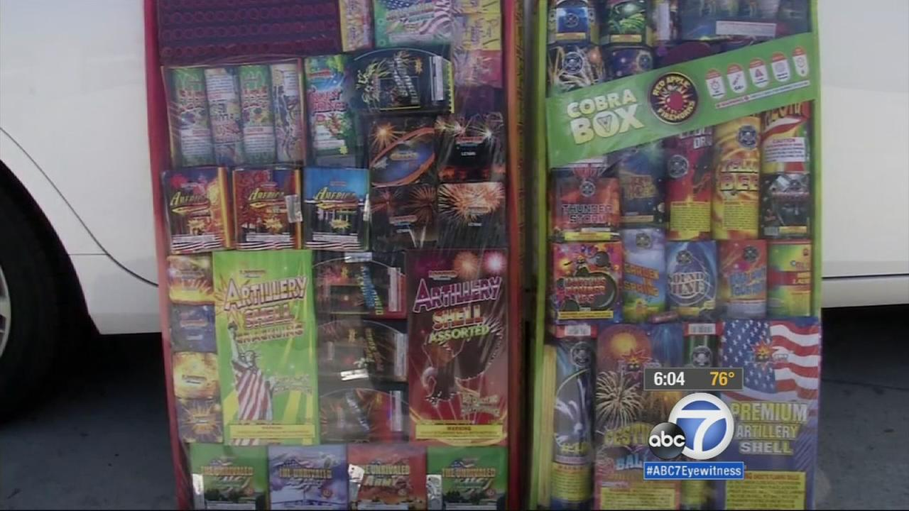 Santa Ana police officers seized more than 3,000 pounds of illegal fireworks Thursday, June 25, 2015 as part of an ongoing undercover operation.