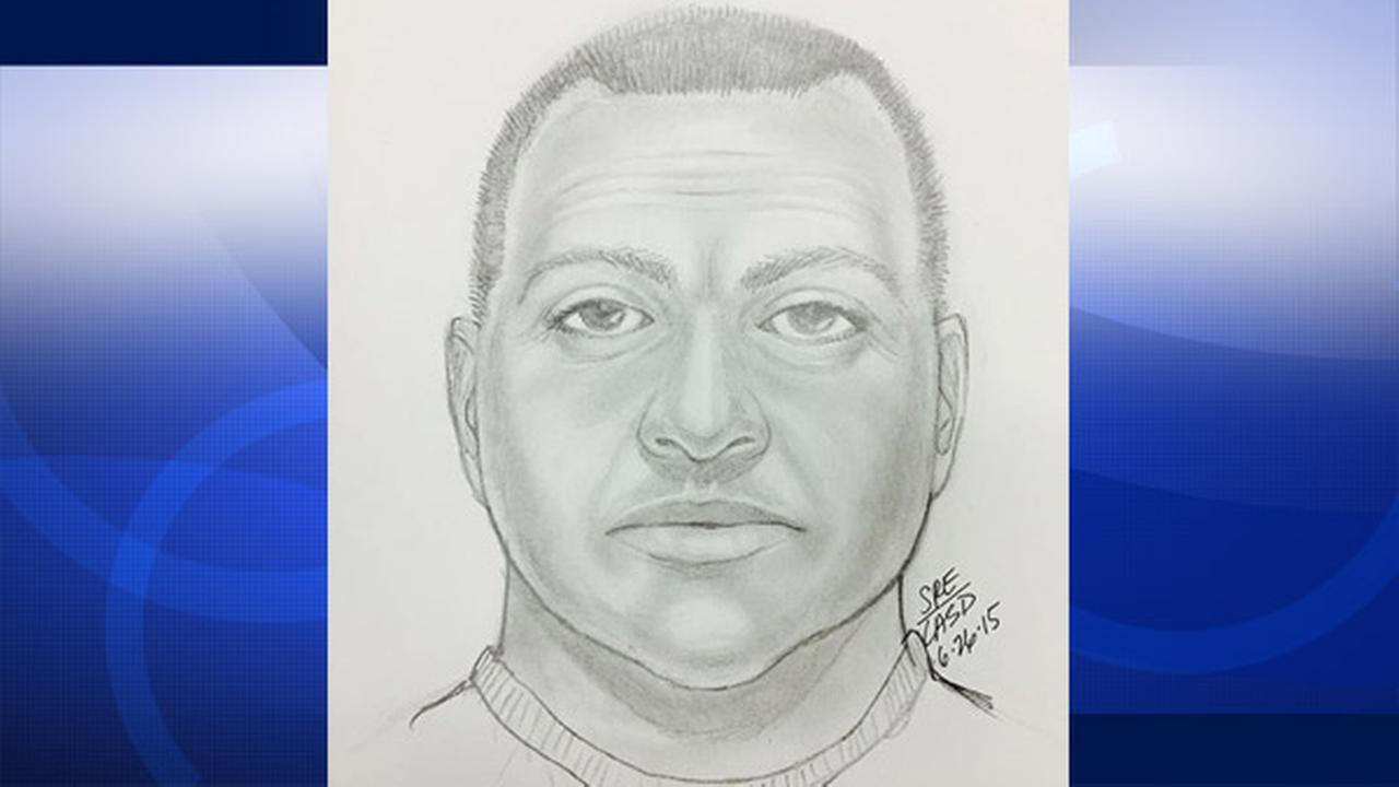 A sketch of a suspected hot prowler who was last seen fleeing from an Agoura womans home is shown.