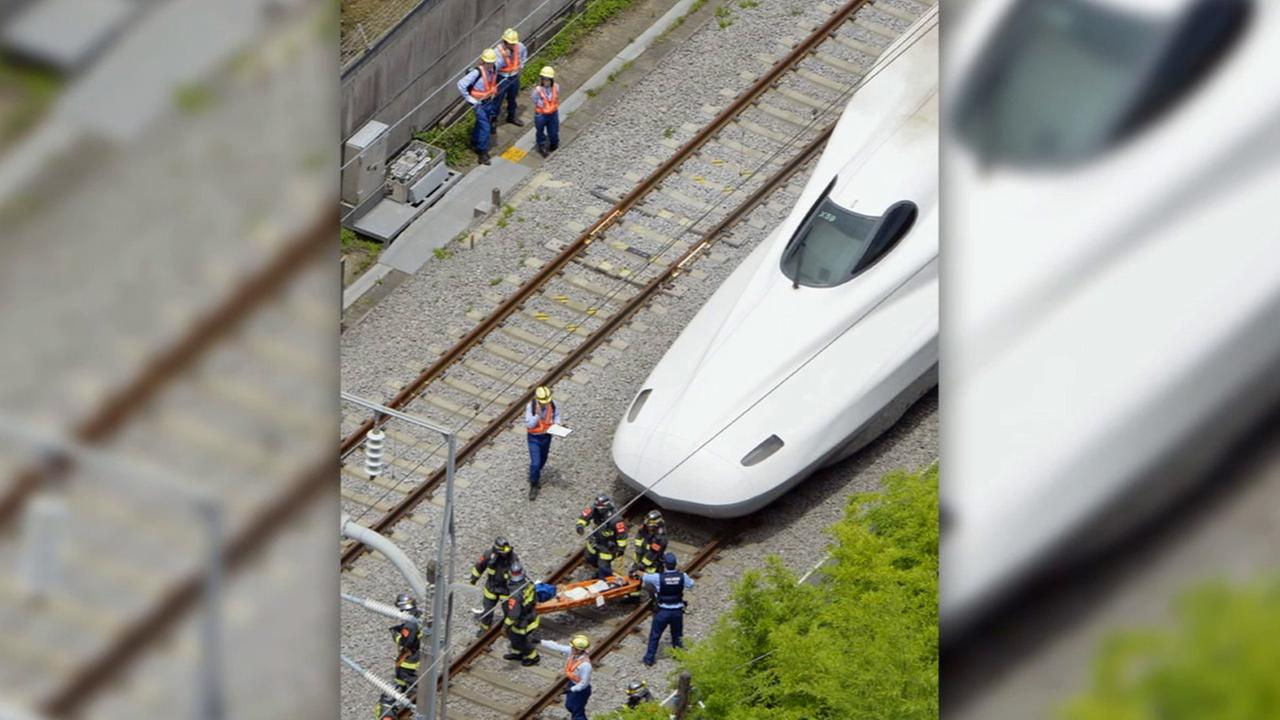 A passenger on one of Japans high-speed bullet trains set himself on fire, filling a carriage with smoke, on Tuesday, June 29, 2015.