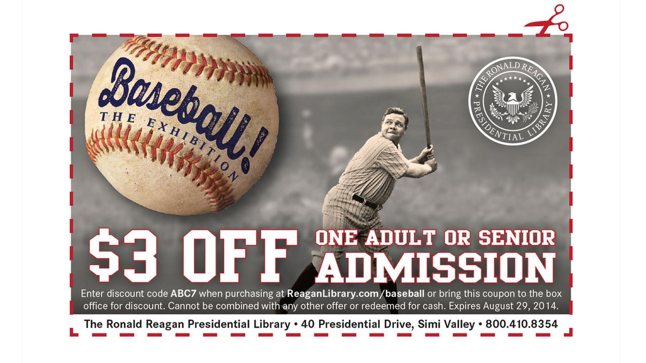 Reagan Library $3 Coupon