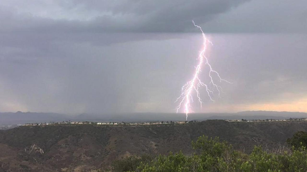 ABC7 viewer Jay Knauer shared this photo of lightning in Laguna Beach using #ABC7Eyewitness.