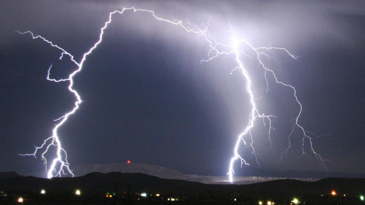 ABC7 viewer Chris Nichols shared this photo of lightning in Yucca Valley.