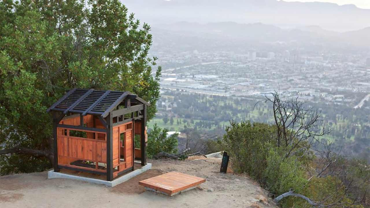 A tea house was surreptitiously built by a group of anonymous artists inside Griffith Park earlier this week without permission from the city of Los Angeles.