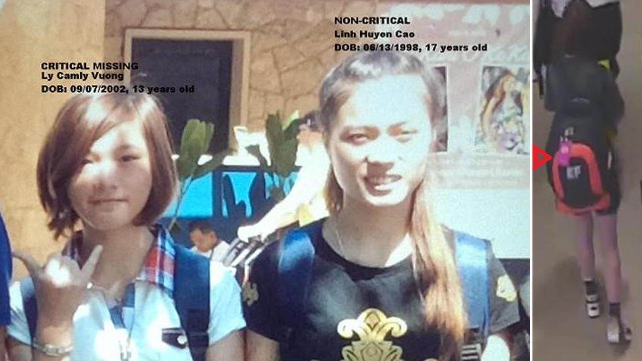 Ly Camly Vuong, 12, (left) and Linh Huyen Cao, 17 (right).