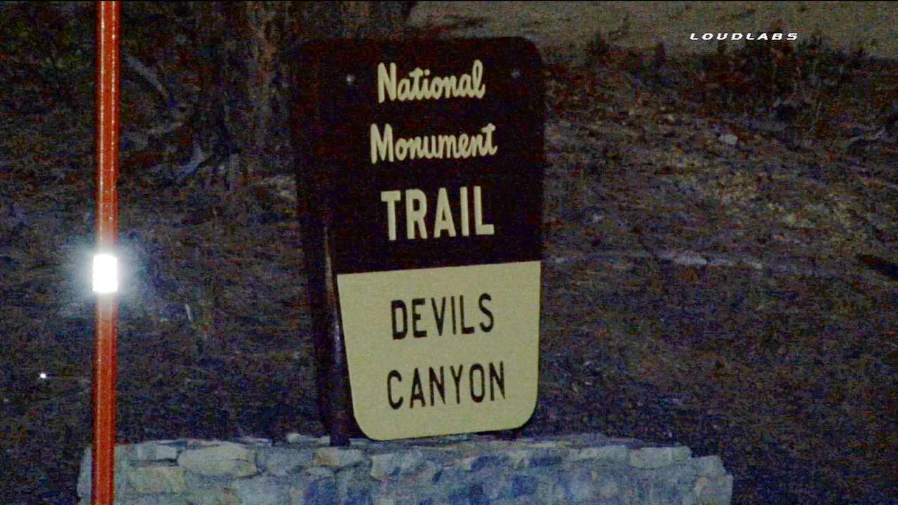 A sign for the Devils Canyon trail is shown in this July, 7, 2015 photo.