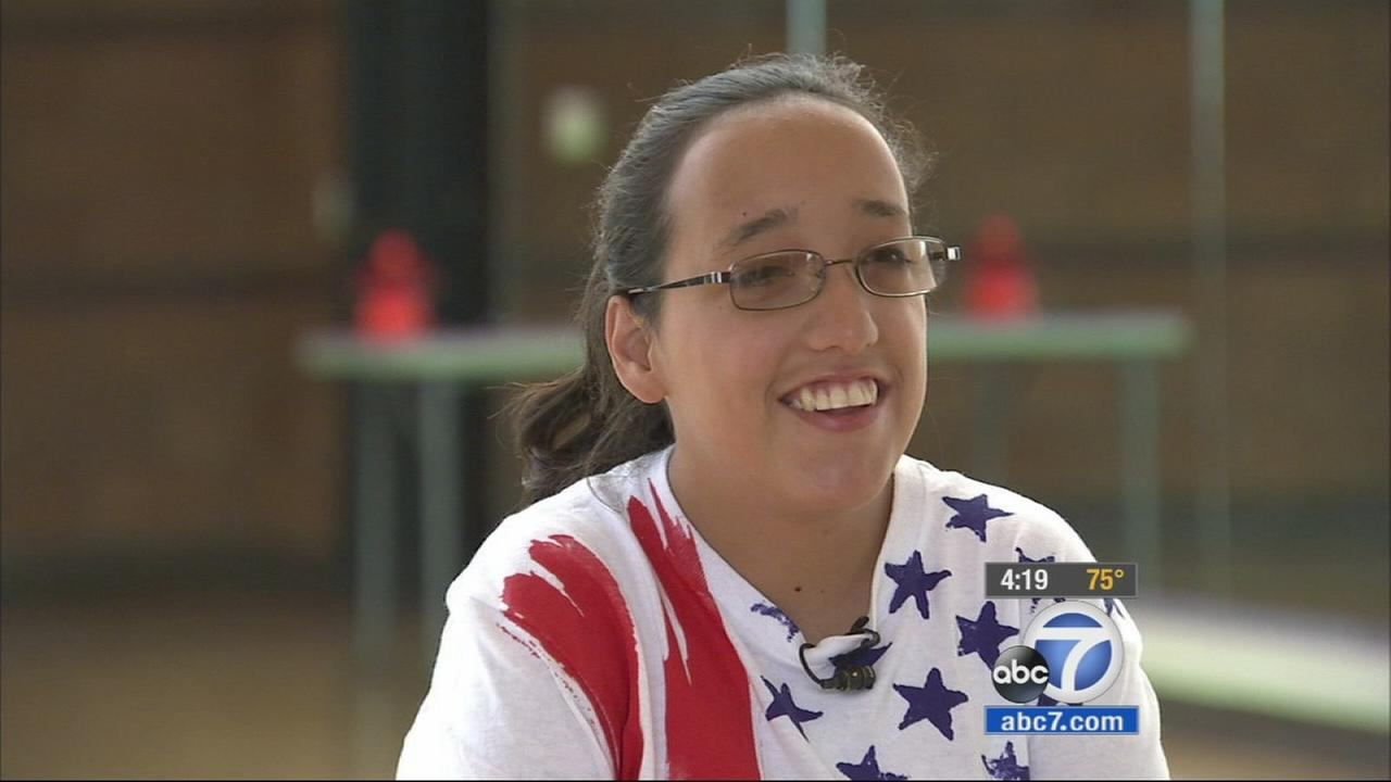 Our ABC7 Cool Kid for Thursday, July 9, is Destiny Sanchez, who has her eyes on winning gold in this years Special Olympics.