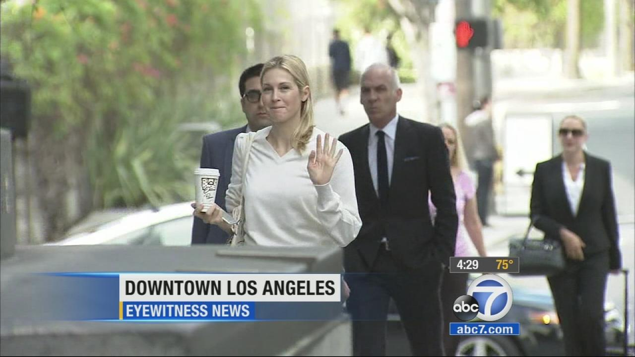 Actress Kelly Rutherford told a Los Angeles judge Thursday, July 9, 2015 that the costs of lawyers and trans-Atlantic trips to visit her children has forced her into bankruptcy.