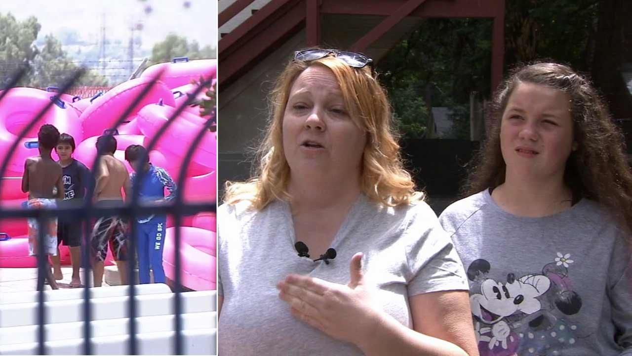 A Redlands mother is searching for the Good Samaritan she says saved her 12-year-old daughters life at Splash Kingdom Waterpark Tuesday, July 7, 2015.