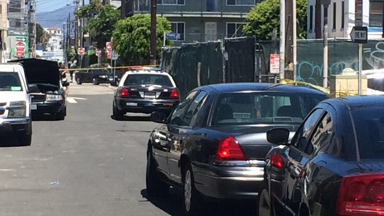 Authorities cordoned off an area in Venice Beach after three people were found possibly suffering from an overdose of the date rape drug GHB on Sunday, July 12, 2015.