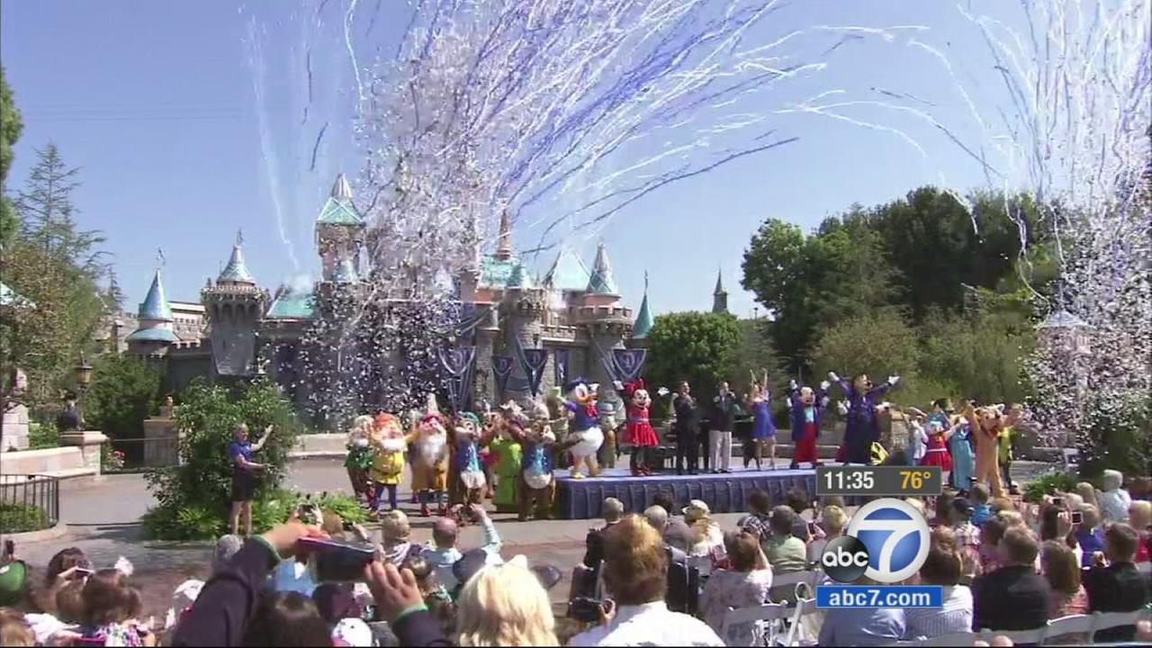 Disneyland is celebrating the parks 60th birthday with 1950s throwbacks and free sweet treats for all.