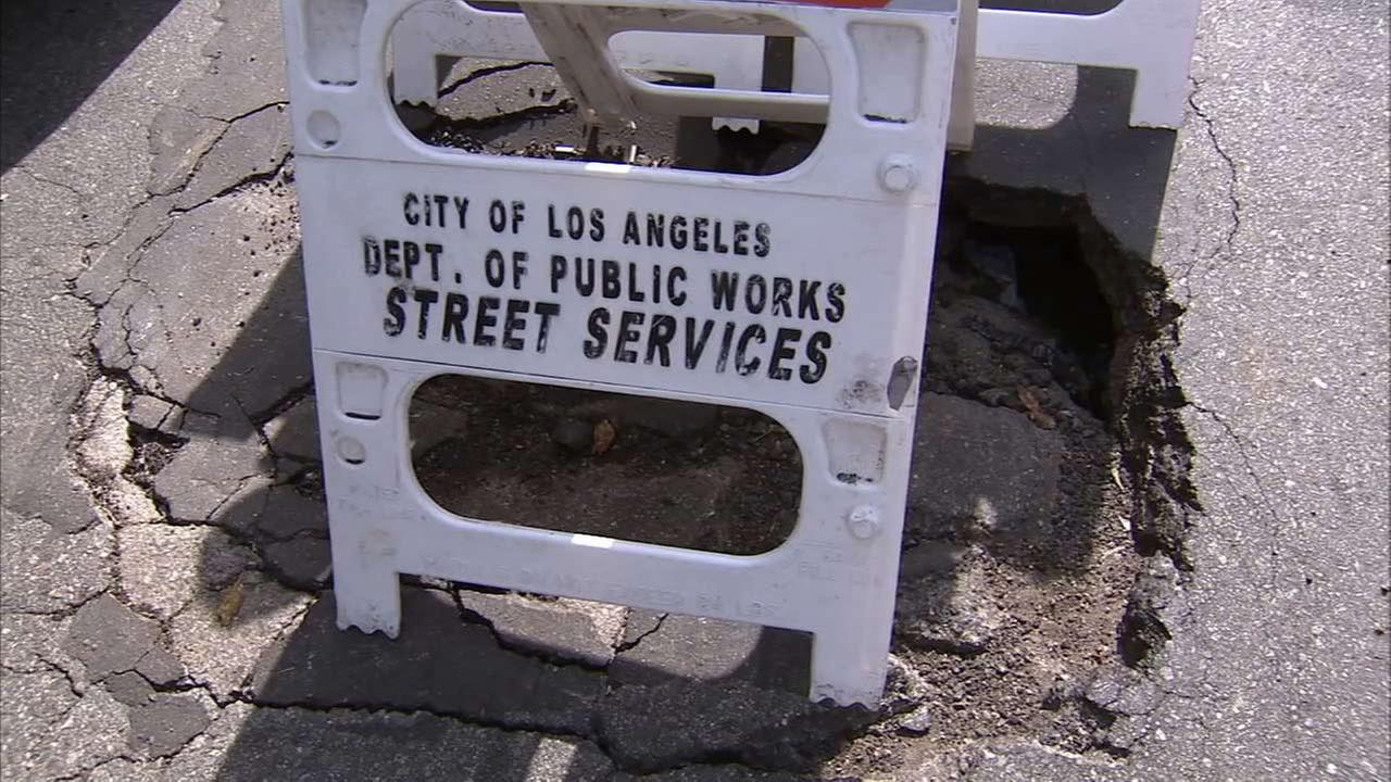 A road repair sign is shown in this undated file photo.