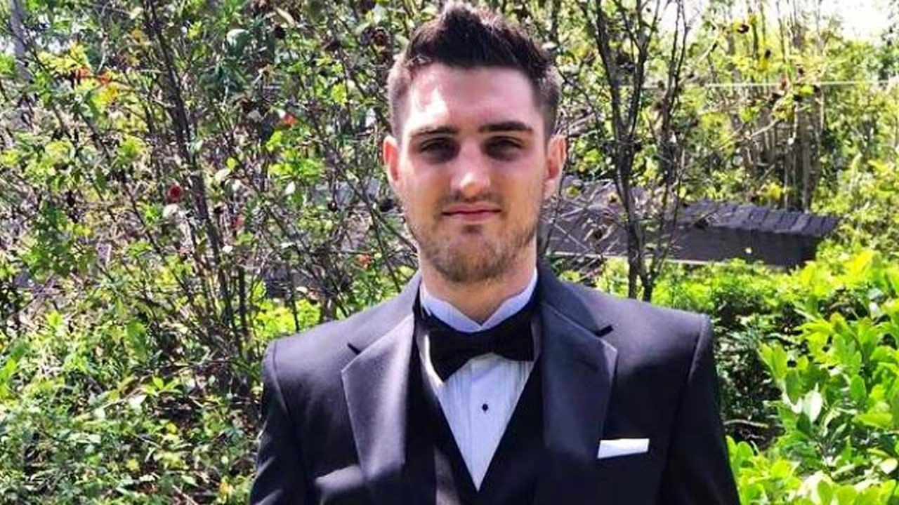 Joe McMahon, 24, is shown in this photo provided by his family to Eyewitness News. They identified McMahon as the man shot dead in Pasadena on Friday, July 24, 2015.