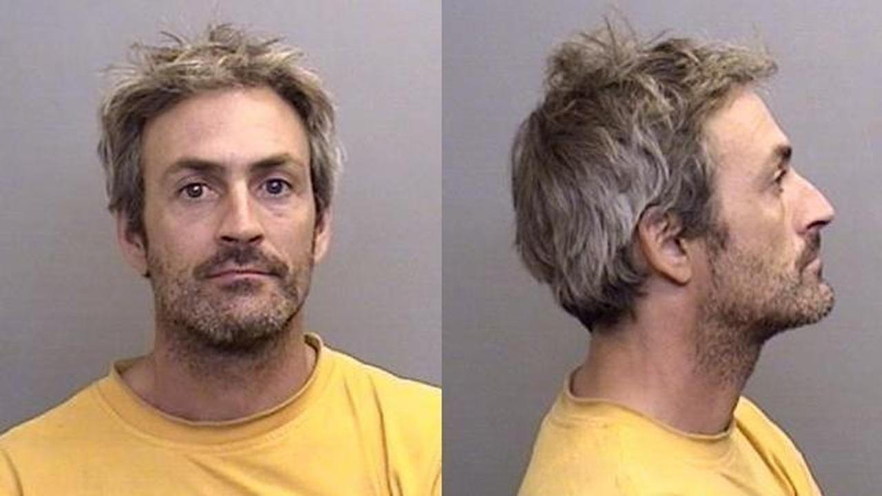David Silverstone, 43, brother of actress Alicia Silverstone, is seen in booking photos provided by the Mendocino County Sheriffs Office.