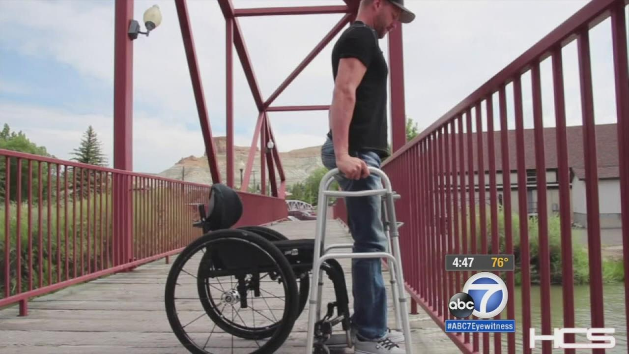 A new breakthrough in spinal cord injury research has allowed four men paralyzed from the chest down to stand.