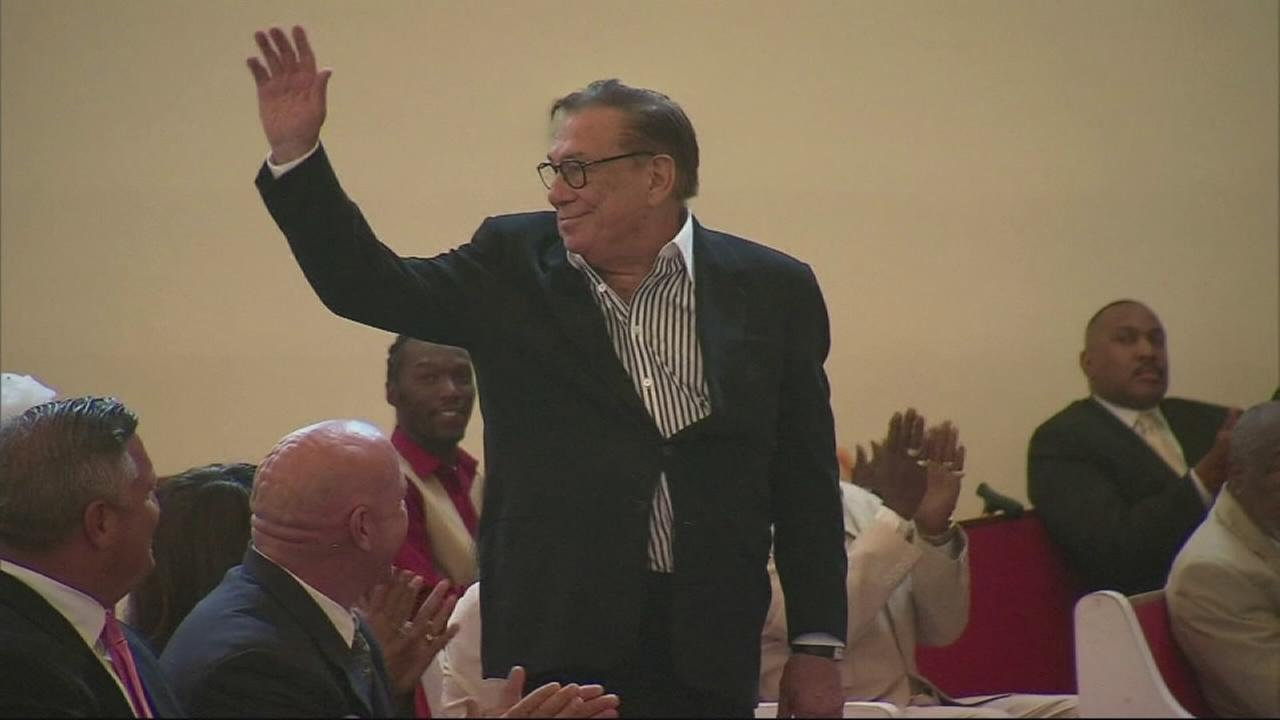 Embattled Los Angeles Clippers owner Donald Sterling attended services at Praises of Zion Baptist Church in South Los Angeles Sunday, June 1, 2014.