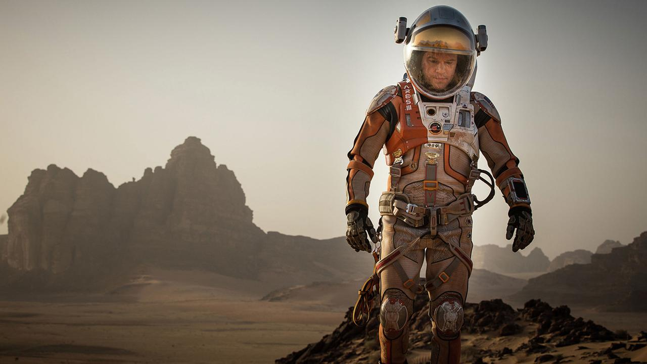 This photo provided by courtesy of the Toronto International Film Festival and Twentieth Century Fox shows Matt Damon as Mark Watney a scene from the film, The Martian.