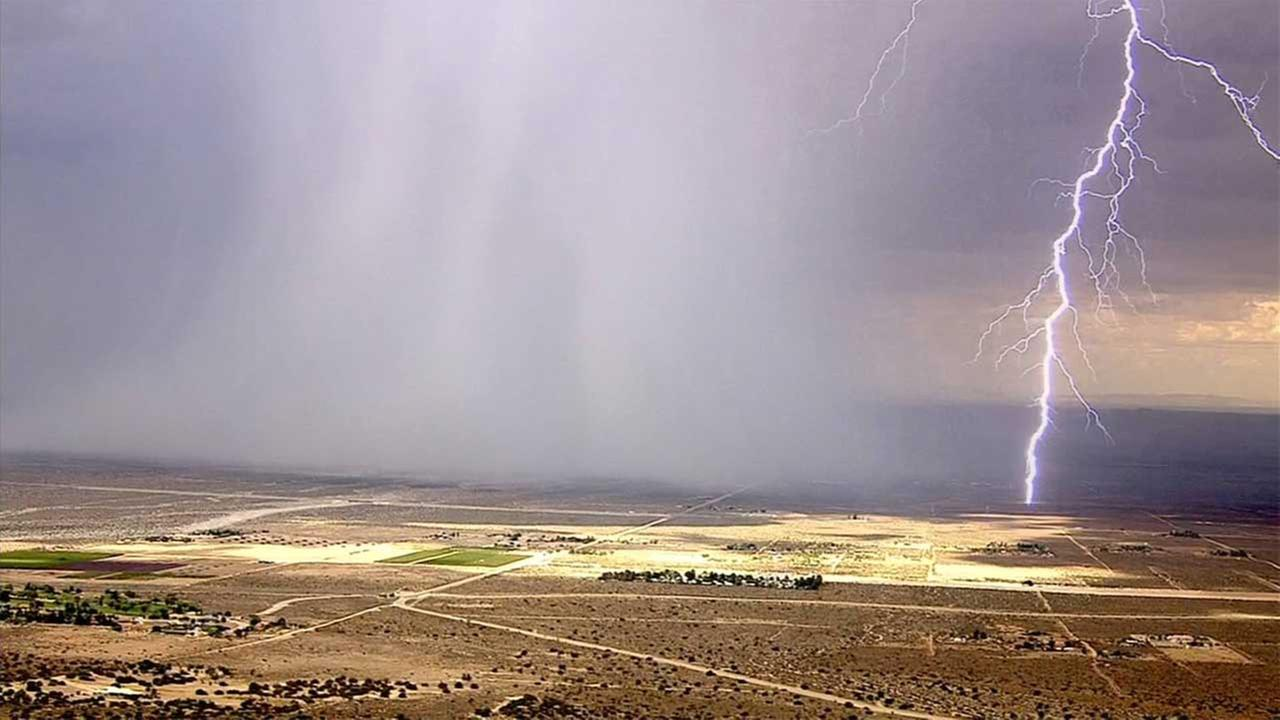 AIR7 HD captured a lightning strike in the Inland Empire on Wednesday, July 29, 2015.