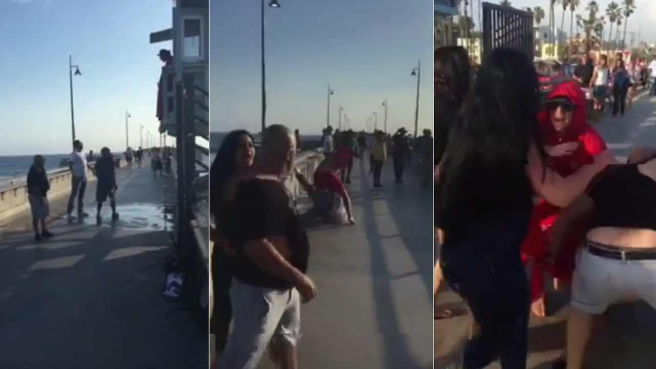 A Los Angeles County lifeguard was attacked at Venice Pier Thursday, July 30, 2015.