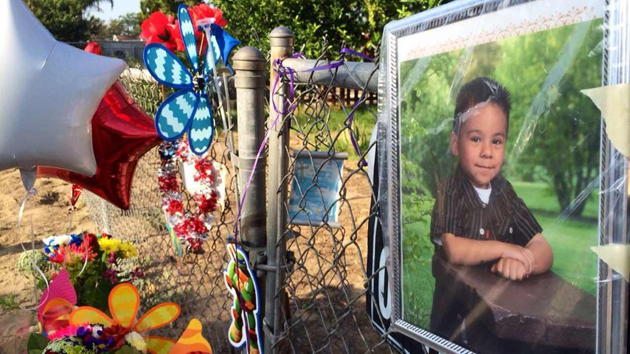 Daniel Munoz, 4, is shown in a photo placed at a memorial in a Highland neighborhood where he was shot and killed on Wednesday, July 29, 2015.