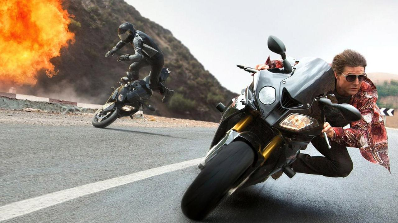 Actor Tom Cruise is shown in a promotional shot for his new movie Mission: Impossible - Rogue Nation.
