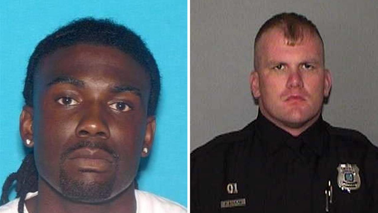 Tremaine Wilbourn, left, is a suspect being sought in the killing of Memphis police Officer Sean Bolton, right.