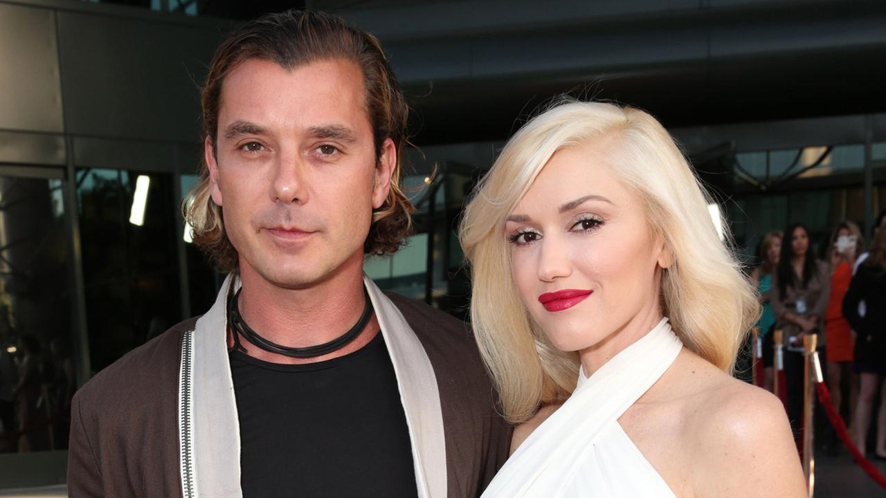 In this June 4, 2013 file photo, musicians Gavin Rossdale, left, and Gwen Stefani attend the LA premiere of The Bling Ring in Los Angeles.