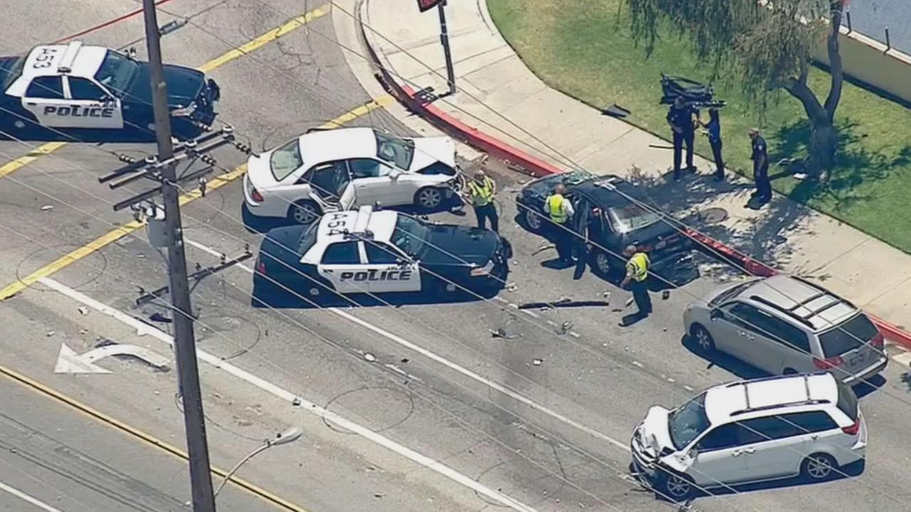 A passenger in a stolen vehicle was killed in a collision in Temple City during a police pursuit Monday morning, June 2, 2014.