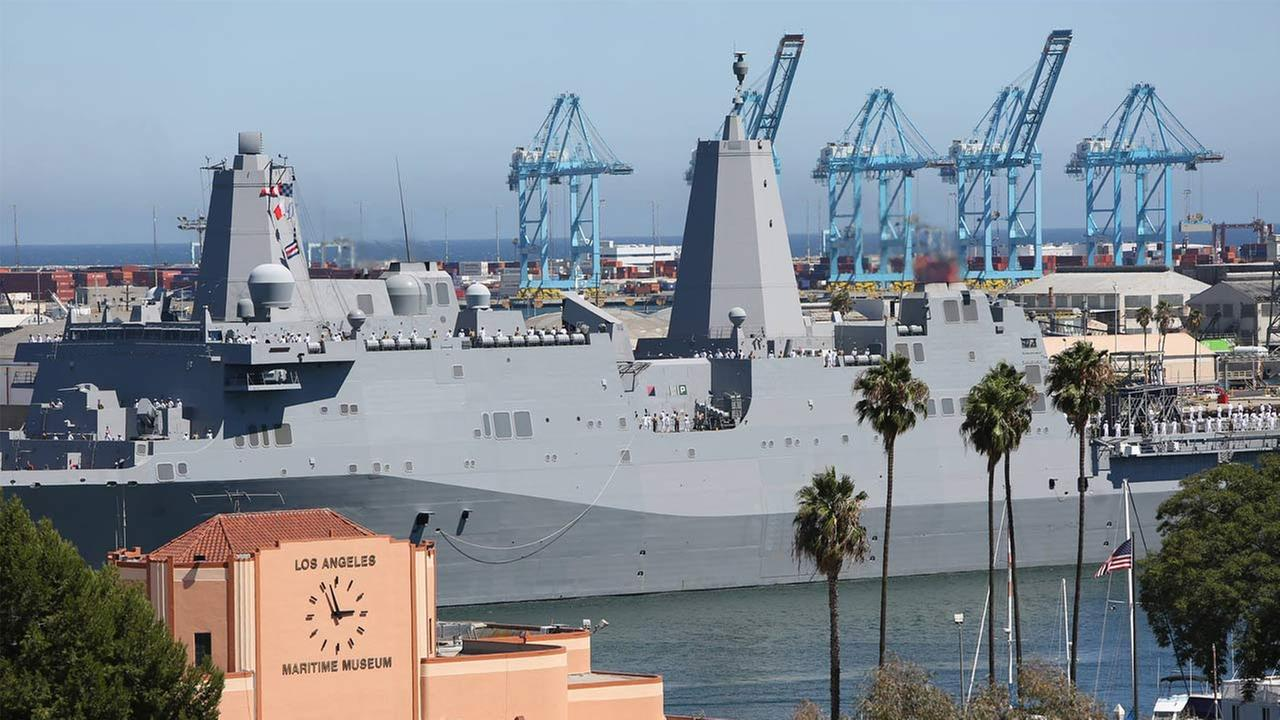 A Navy vessel is shown in this photo posted on LA Waterfronts Facebook page ahead of Navy Days LA 2015.