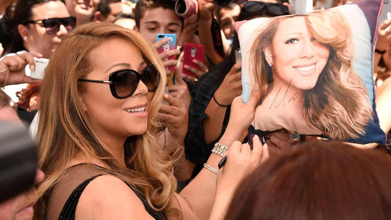 Mariah Carey attends ceremony honoring Mariah Carey with a star on the Hollywood Walk of Fame on Wednesday, Aug. 5, 2015 in Los Angeles. Chris Pizzello/Invision/AP