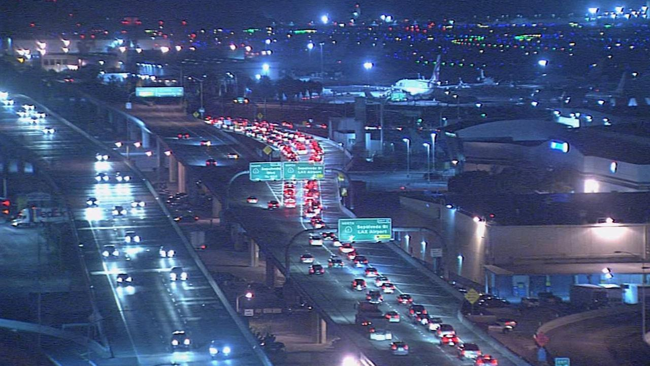 Traffic heading to Los Angeles International Airport was heavily delayed after a power outage on Wednesday, Aug. 5, 2015.