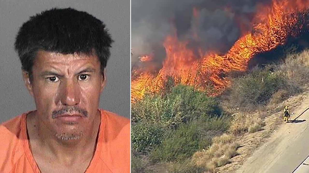 Arturo Miallan Aguilar, 45, pleaded not guilty in a downtown Los Angeles courtroom to a charge of recklessly causing the Lincoln Fire in Montebello.