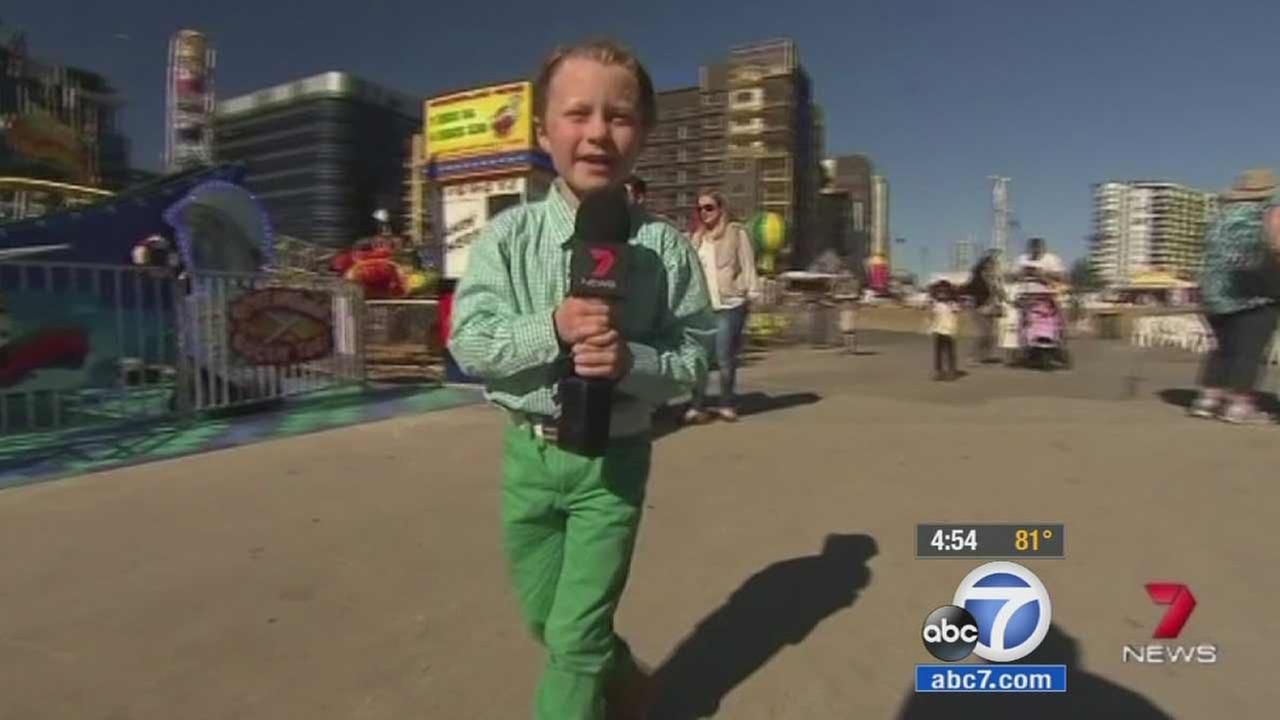 Seven-year-old Mater Vandeleur may be the worlds most adorable TV correspondent.