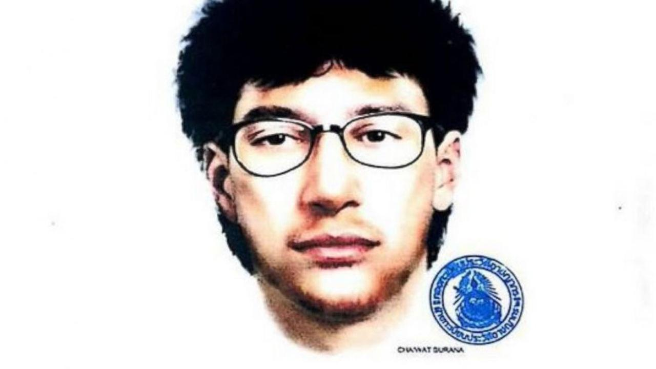This image released by the Royal Thai Police on Wednesday, Aug. 19, 2015, shows a sketch of the main suspect in a bombing that killed a number of people in Bangkok on Monday.