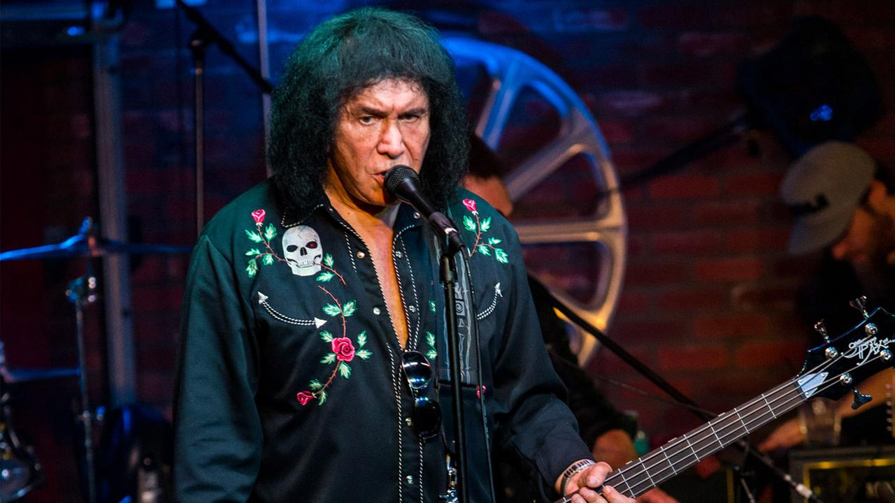Gene Simmons performs during the Music On A Mission benefit concert held at Lucky Strike Live - Hollywood on Sunday, Aug. 16, 2015 in Los Angeles.