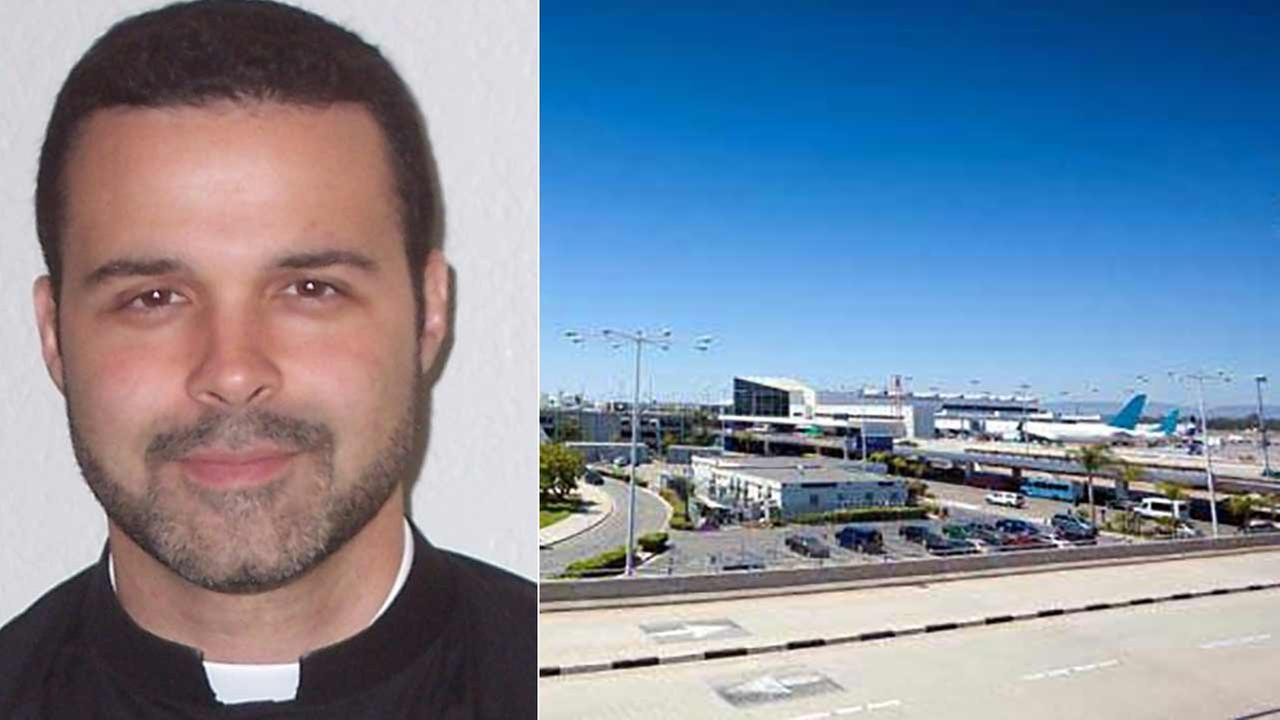 Marcelo de Jesumaria, 46, was arrested at Los Angeles International Airport after groping a sleeping womans buttocks, breast and groin during a nighttime flight in August 2014.