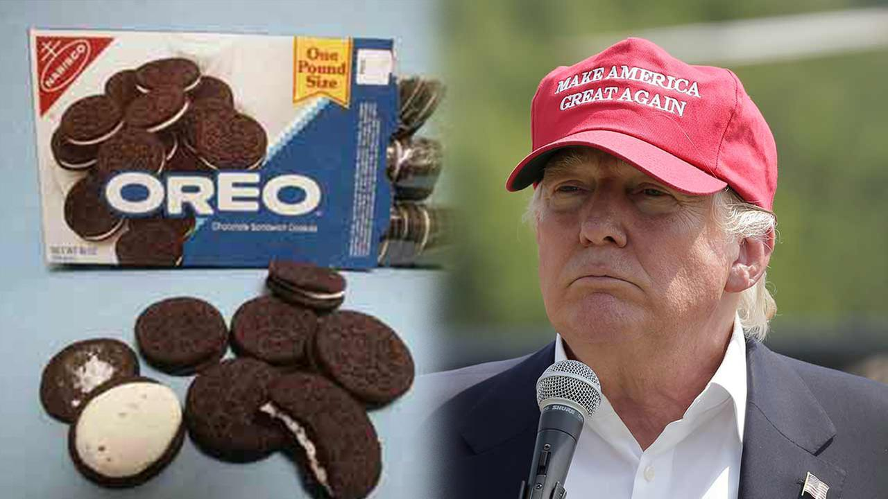 Donald Trump vows never to eat Oreos again, citing move to Mexico